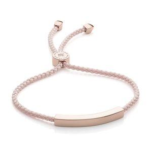 Monica Vinader engravable pink friendship bracelet